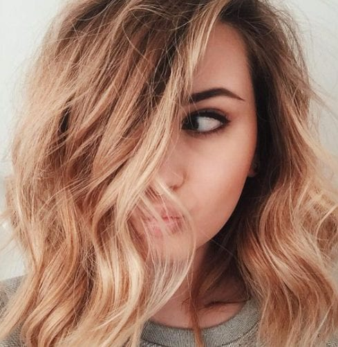 fresa balayage color de pelo