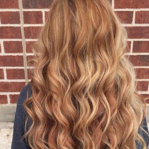 de vainilla y exuberantes de la luz mocha balayage color de pelo