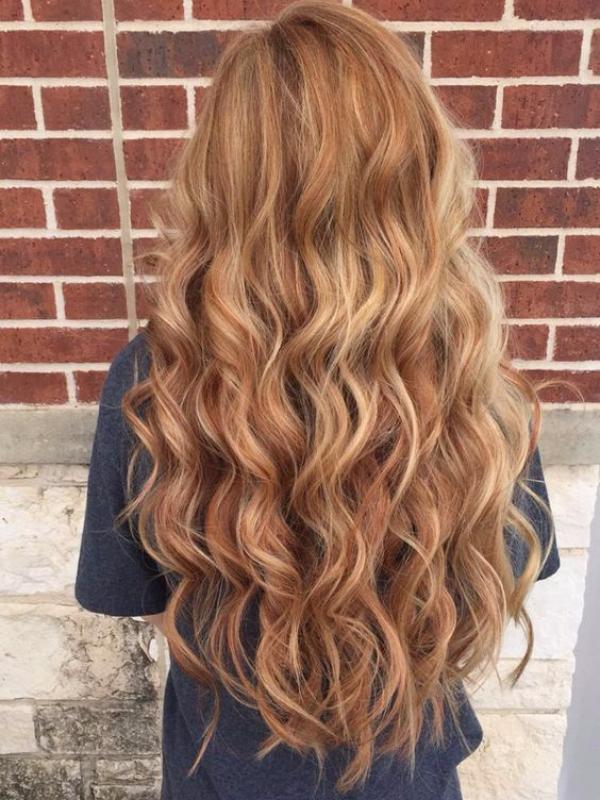 vanilla lush and light mocha balayage hair color