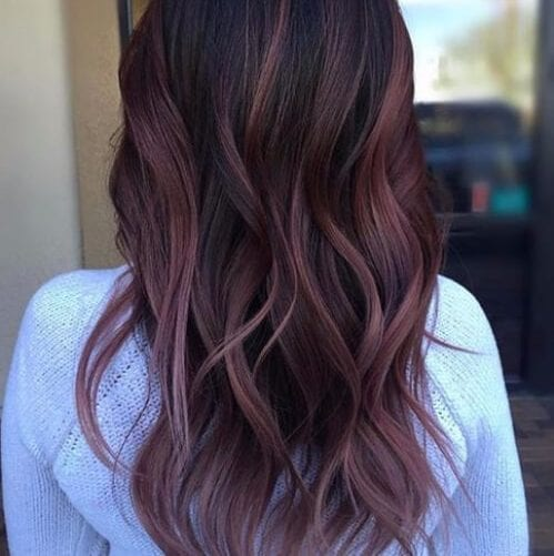 Black Plum Balayage plum hair color
