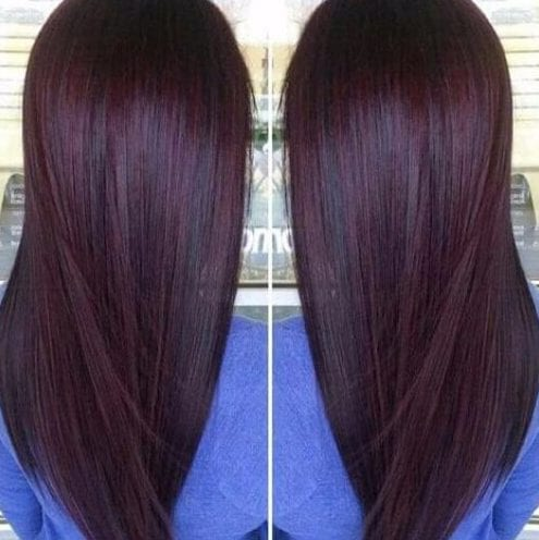 Chocolate cherry plum hair color