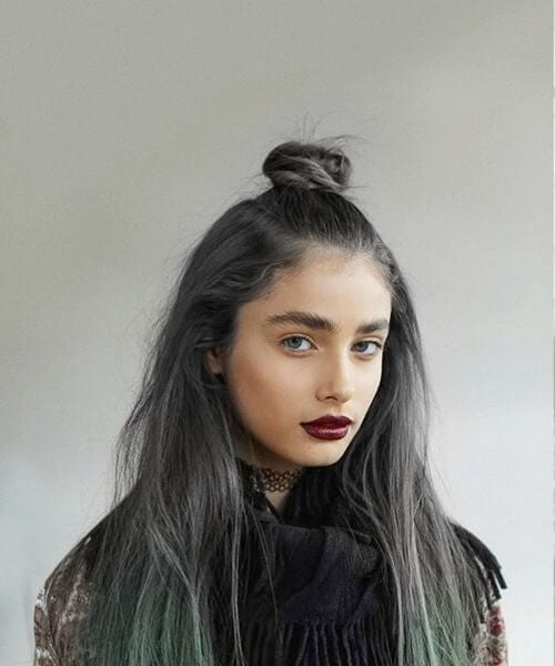 Lunar Tides Hair Slate Grey Juniper Green fall hair colors