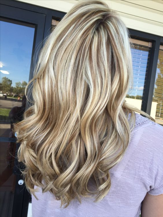 Stunning ice blonde and chocolate brown lowlight brown hair with blonde highlights
