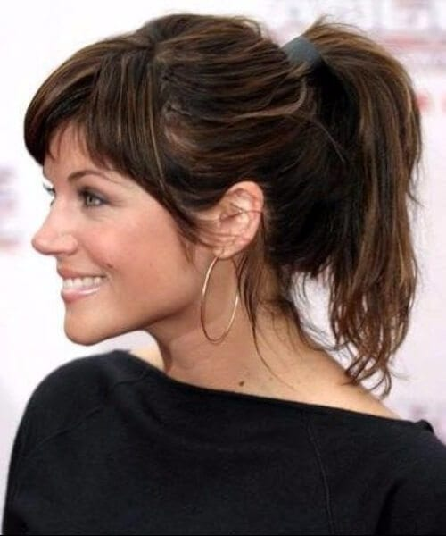 Tiffani Thiessen hairstyles with bangs