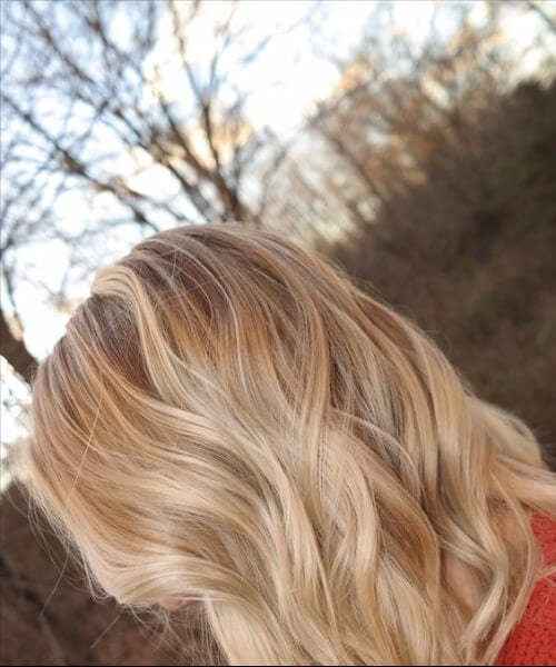 autumn blonde balayage