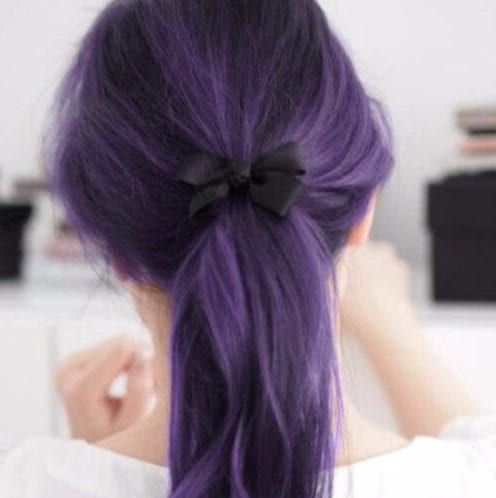 black bow plum hair color