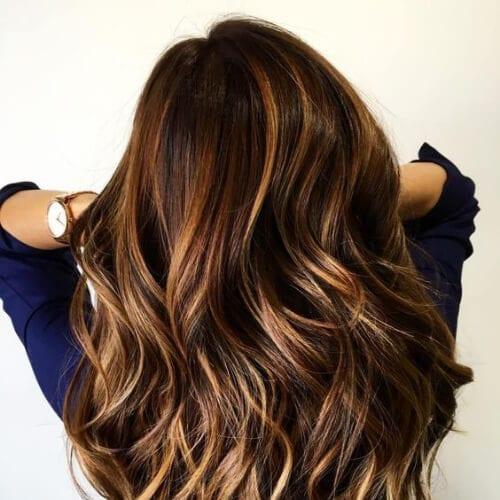 Dark Brown Hair Light Blonde Highlights Pictures
