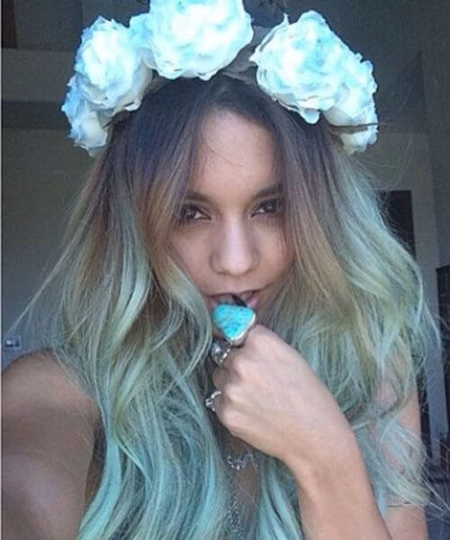 cotton candy strands teal hair color