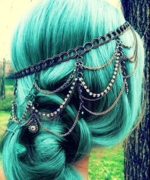 hair jewels teal hair color