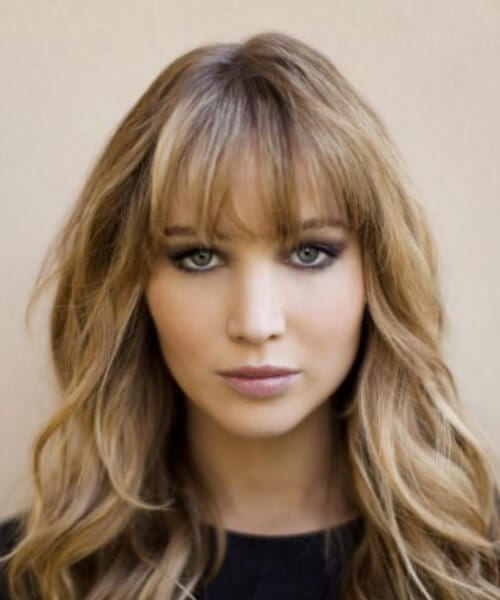 jennifer lawrence hairstyles with bangs