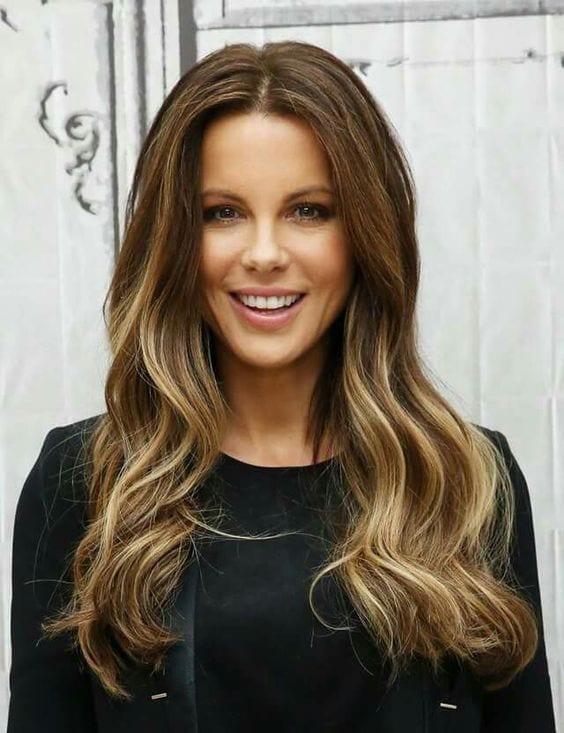 50 fashionable ideas for brown hair with blonde highlights my kate beckinsale brown hair with blonde highlights pmusecretfo Choice Image