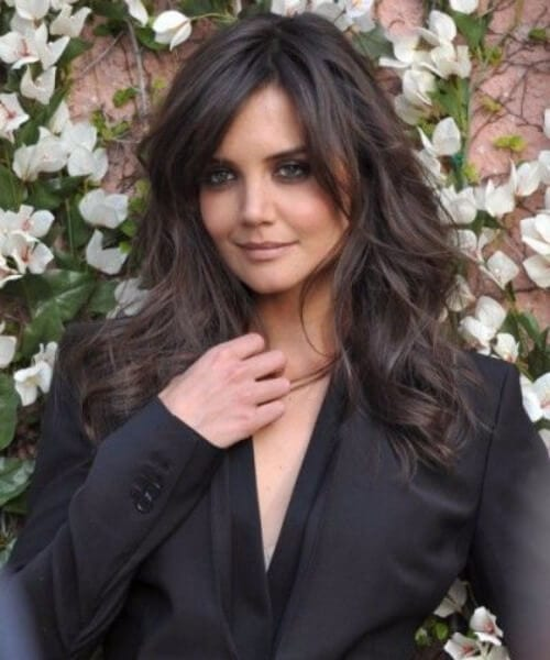katie holmes hairstyles with bangs