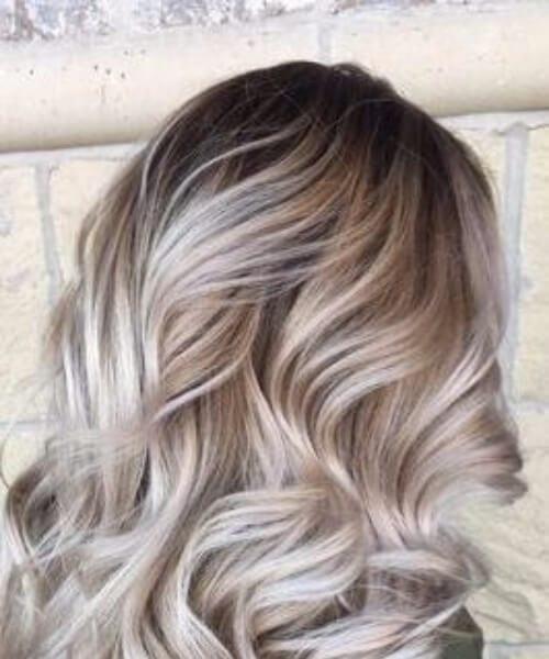 light gray blonde balayage