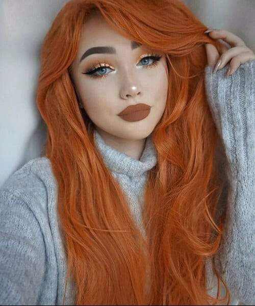 pumpkin spice fall hair colors