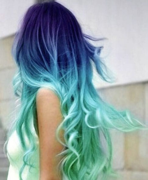 purple and teal hair color