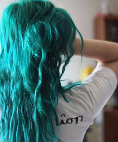 seaweed teal hair color