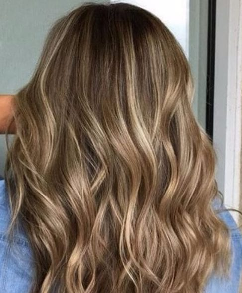 soft blonde highlights on a dark blonde base fall hair colors