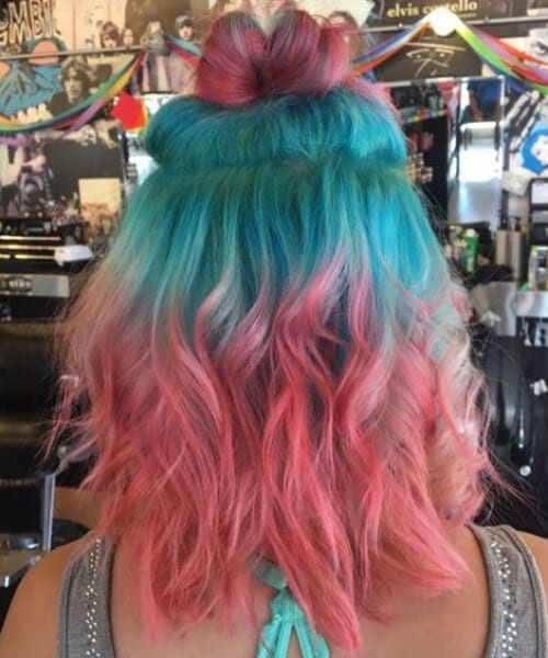 watermelon hair teal hair color
