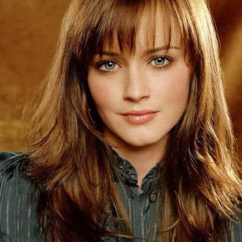 alexis bledel long hair with bangs