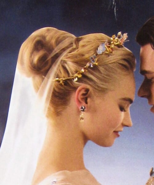 cinderella wedding hairstyles for long hair