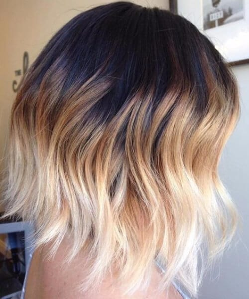 coffee and cream short hair ombre