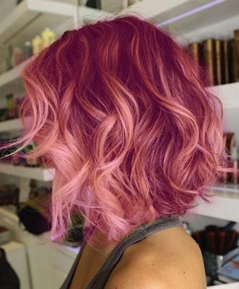 copper rose short hair ombre