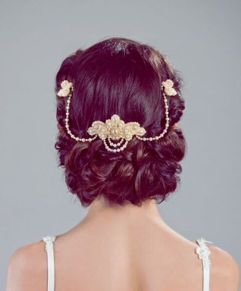 elegant headpiece wedding hairstyles for long hair
