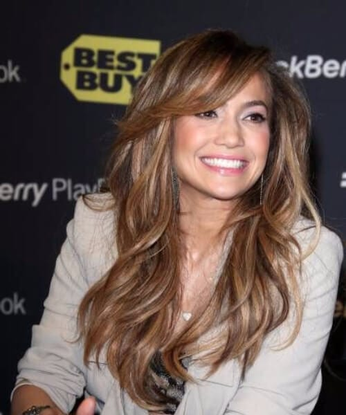 jennifer lopez side swept bangs