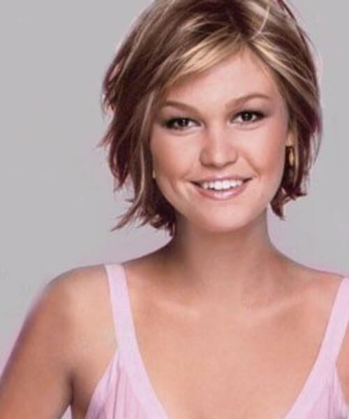 julia stiles short hairstyles for thick hair