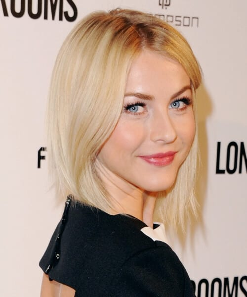 julianne hough asymmetrical bob