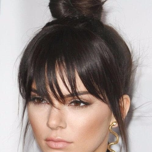 kendall jenner long hair with bangs