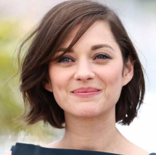 marion cotillard short hairstyles for thick hair
