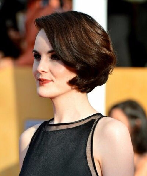 michelle dockery short hairstyles for thick hair