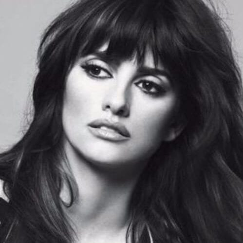 penelope cruz long hair with bangs