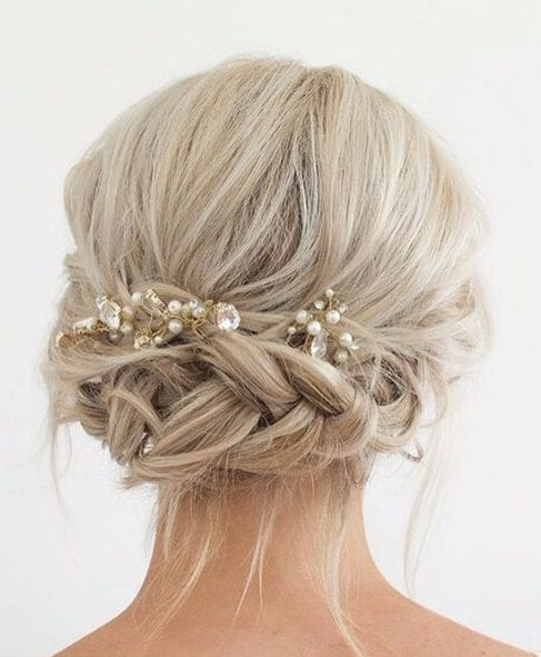 rhinestones wedding hairstyles for long hair