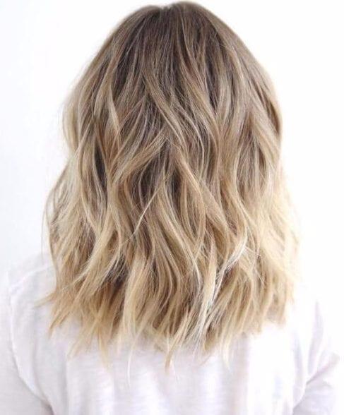 balayage short hair blonde nutmeg
