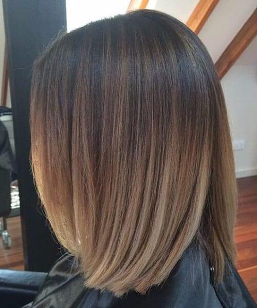 blended balayage short hair