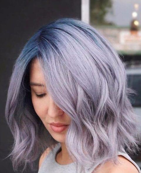 lavender balayage short hair