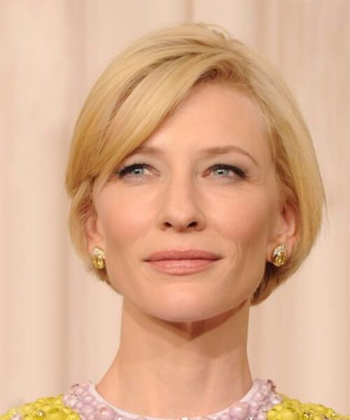 cate blanchet short hair with bangs