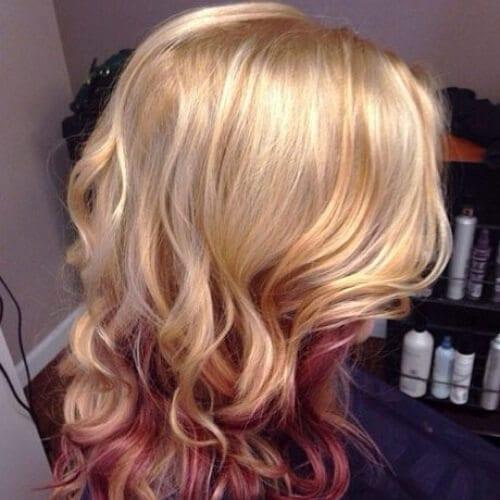 Blonde Hair With Turquoise Peekaboos Www Picswe Com