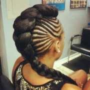fierce braided mohawk hairstyles