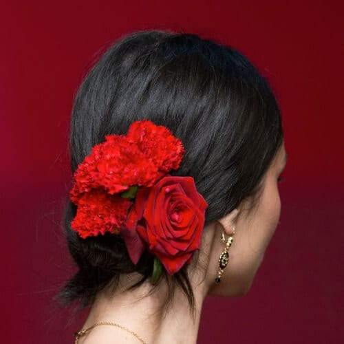 flower prom hairstyles for short hair