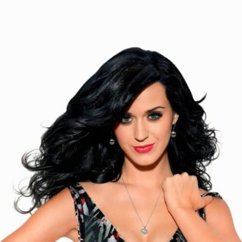 katy perry long curly hairstyles