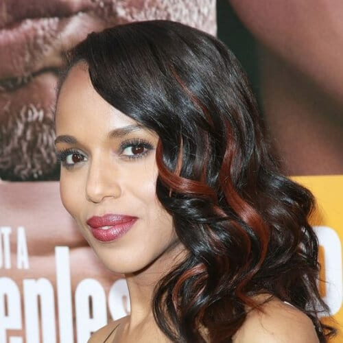 kerry washington copper peekaboo highlights