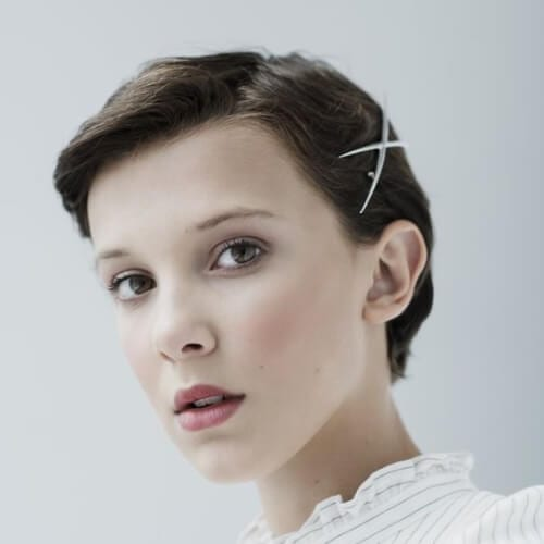 millie bobby brown prom hairstyles for short hair