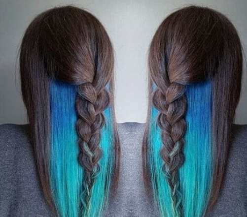 turquoise waterfall mermaid peekaboo highlights