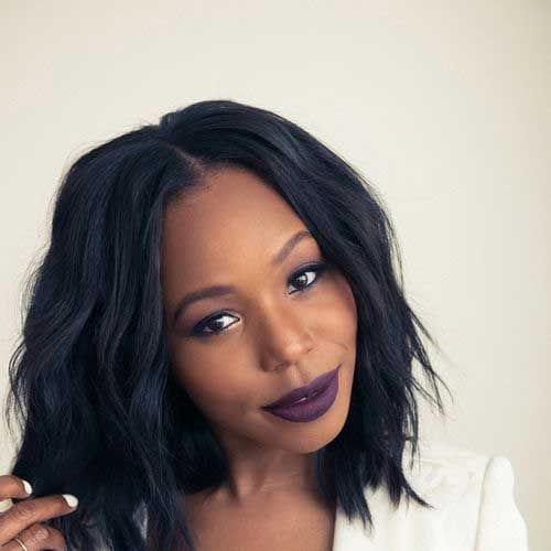 wavy bob hairstyles for black women