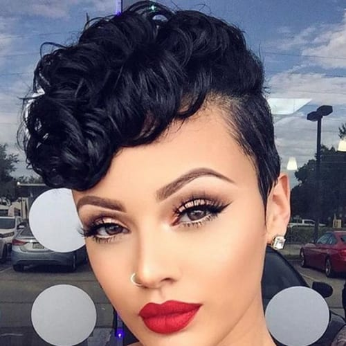 retro curly pixie cut