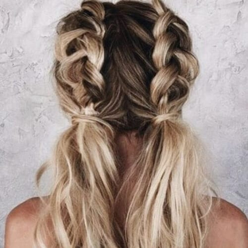Braided pigtails braid hairstyles for long hair
