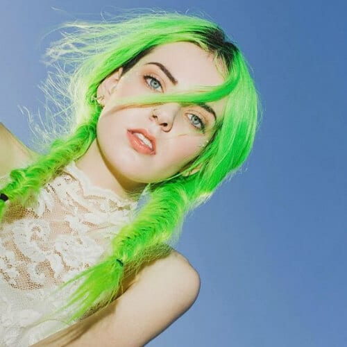 acid green cool hairstyles for girls